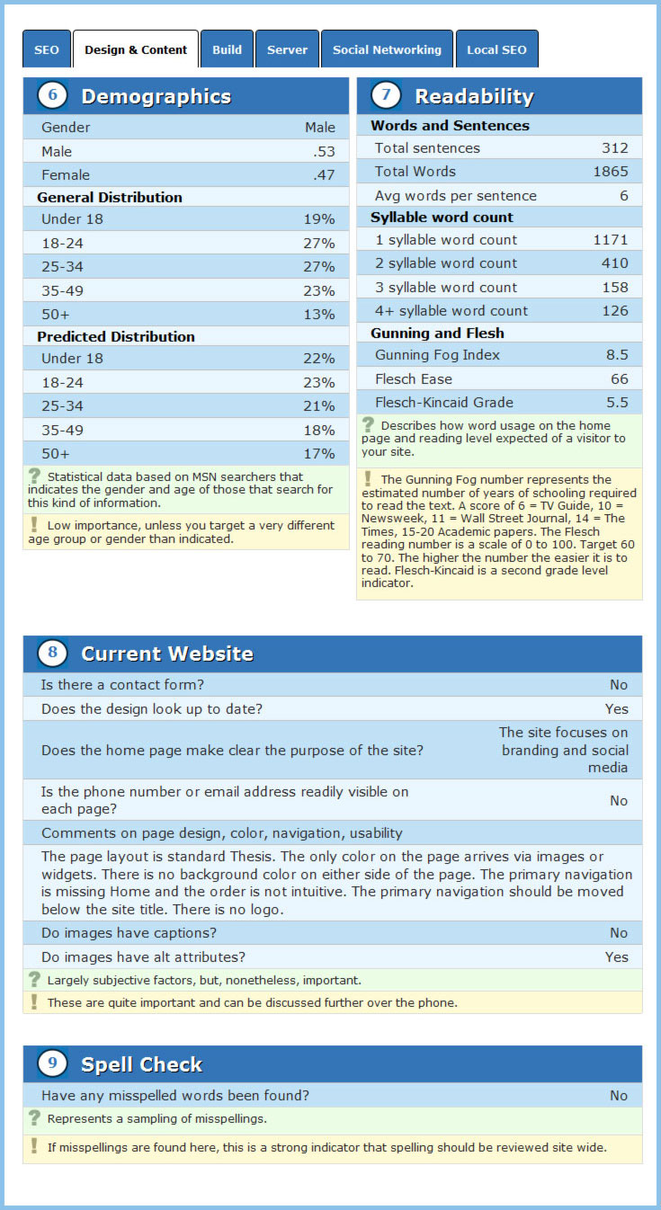 report page 2